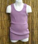 Kids Organic Cotton RIB TANK - Purple - USA