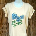 Bluebonnets Print on Natural Organic Basic Tee