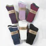 Maggie's Cotton Crew Socks Tri-Color 3-Pack NEW 98% Organic