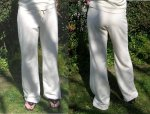 French Terry Drawstring Pants in Natural