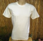 Crew Neck Fine Jersey Tee Shirt in Natural