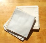 Organic Cotton LARGE Flannel HANKIES - Singles