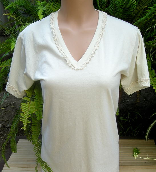 "V-Neck Tee With a ""Feminine Touch"""