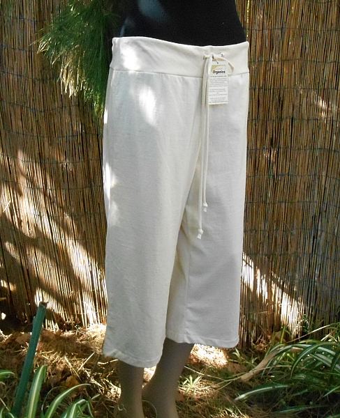 Drawstring Stretch Capri Pants - Jersey or French Terry