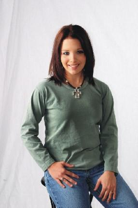 Long Sleeve Scoop Neck Tee in Colors
