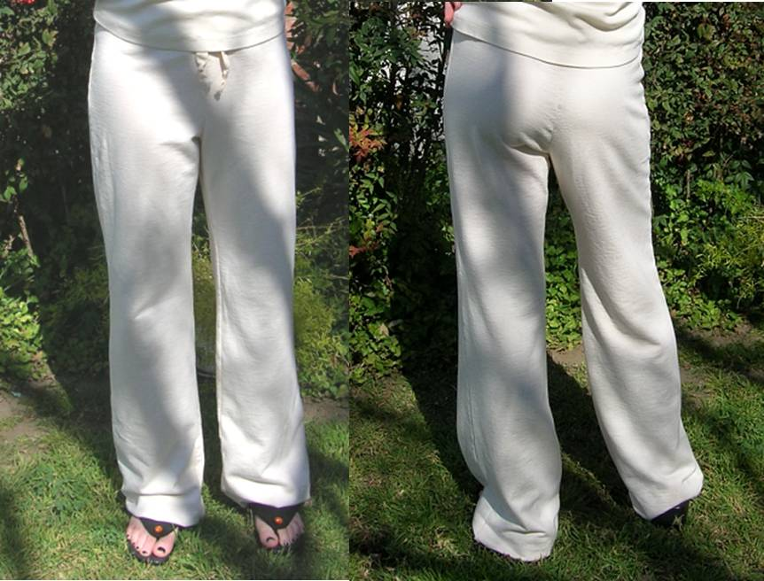 Jersey or French Terry Drawstring Pants in Natural