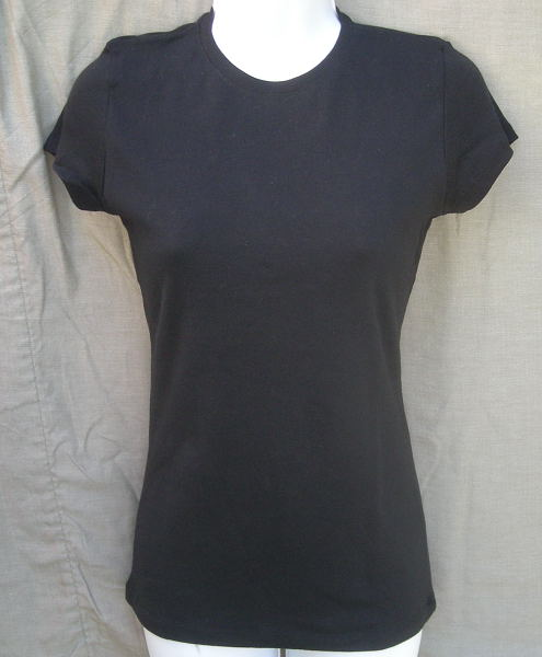 Baby Rib Short Sleeve Tee in Black