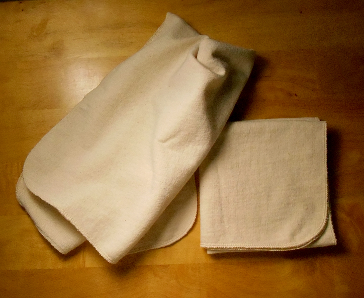 Set of 2 Small French Terry Kitchen Towels